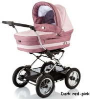 Коляска Baby Care Sonata Dark/red-pink