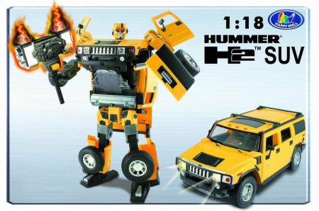 �����-�����������  Happy Well Hummer Roadbot, 1:18, ����, ���� 50120hw