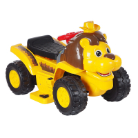Электроминикар TOKIDS 2в1 ЛЕВ, 6V/4Ah, Желтый YELLOW 605CBM