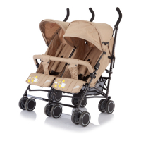 Коляска-трость Baby Care для двойни City Twin (Khakki) BT1106T