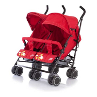Коляска-трость Baby Care для двойни City Twin (Red) BT1106T