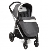 "Коляска Peg-Perego ""BOOK PLUS COMPLETO"" шасси BOOK BLACK/SILVER ASCOT (сер/бел)"