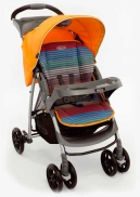 Фото №1: Коляска Graco прогулочная Mirage + W Parent tray and boot, (Jaffa stripe)