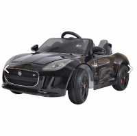 Электромобиль  SHINE RING JAGUAR F-TYPE, 12V/7Ah, EVA, Черный покраска PAINTED Black SR218