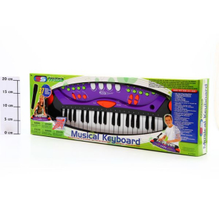 Фото - mini №1: Музыкальный инструмент SS Music Синтезатор с микрофоном Musical Keyboard, 37клавиш 77037 Б49047