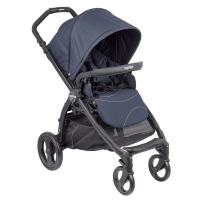 Фото №1: Коляска Peg-Perego Book Plus Pop Up Sportivo,  шасси Book Plus Matt Black, Bloom Navy GL000516832