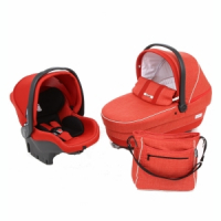Набор Peg-Perego Navetta XL, Primo Viaggio Tri-Fix, Borsa Bloom Red, (красный)