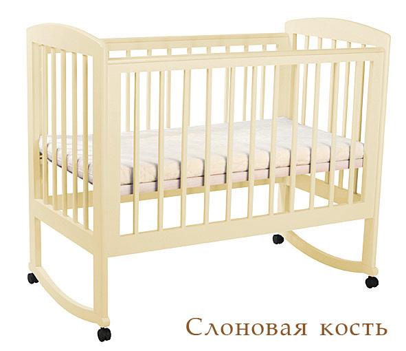 Кубаньлесстрой АБ 16.0 Ромашка кроватка без ящ. слоновая кость