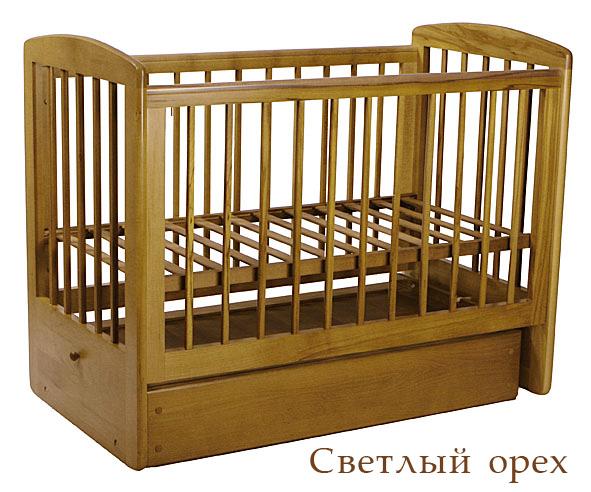 Кубаньлесстрой АБ 16.2 Ромашка кровать маятн. поперечный св.орех