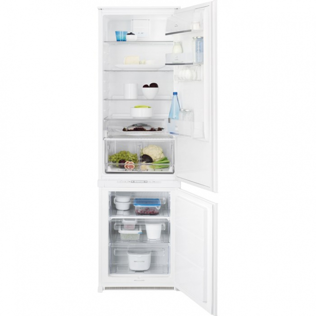 Двухкамерный встраиваемый холодильник Electrolux