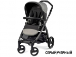 Коляска Peg-Perego BOOK PLUS POP UP,с шасси BOOK BLACK/SILVER ATMOSPHERE (сер/черн)