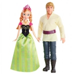 Mattel Disney Princess. герои м/ф Frozen Анна и Кристоф 23х6х32см BDK35