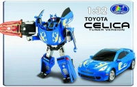 Робот-трансформер  Happy Well Toyota Celica, 1:32, свет 52040hw