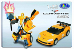 Робот Happy Well Chevrolet Corvette C6R, 1:32 свет 52070hw