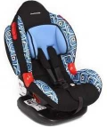 Автокресло Leader Kids Cocoon Isofix (Кокон) (9-25 кг) изофикс голубой принт KRES0429