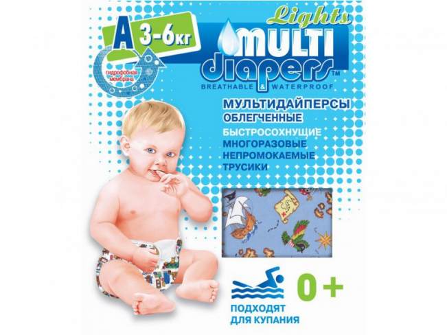 "������������ ��������� Multi-Diapers Lights ""�"" 3-6��."